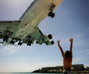 plane, beach, and summer image