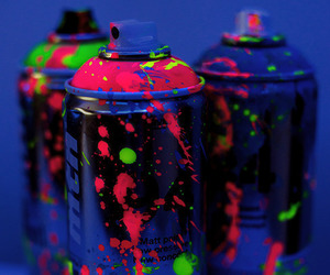 neon, colors, and paint image