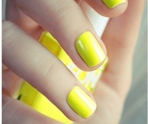 nail polish, yellow, and nails done image