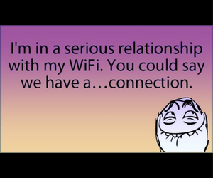 wifi, funny, and Relationship image