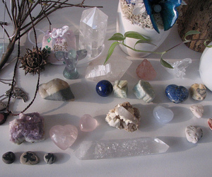 crystal, stone, and pale image
