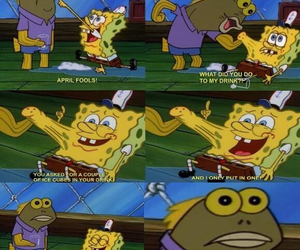 spongebob, april fools, and funny image