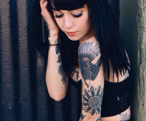 tattoo, hannah snowdon, and black image
