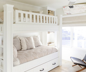bedroom interior, bunk beds, and home interior image