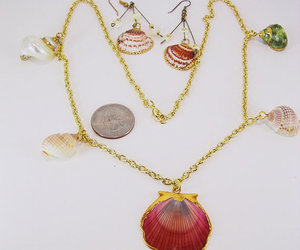 sea shell necklace and shell drop necklace image
