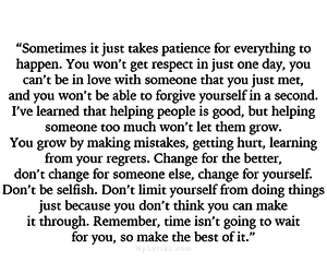ok, patience, and quotes image