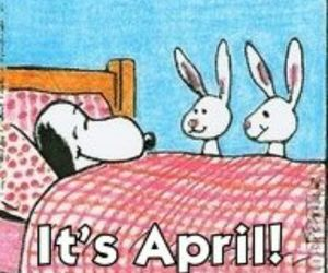 april, bunnies, and cartoon image