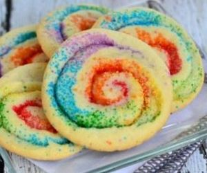 Cookies, food, and rainbow image
