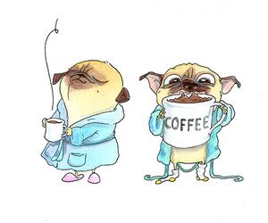 dog, coffe, and coffee image