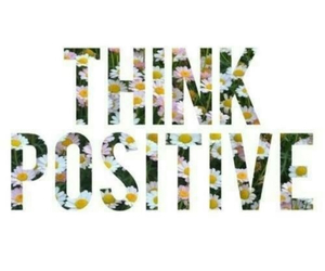 positive, text, and flowers image