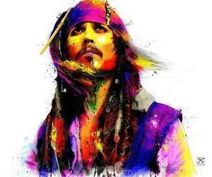 art, captain jack sparrow, and johnny depp image