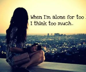 alone, girl, and quote image