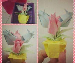 art, origami, and paperflower image