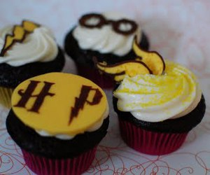cupcake, harry potter, and hp image