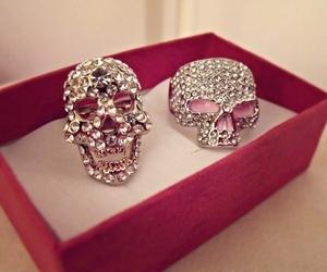 skull, fashion, and ring image