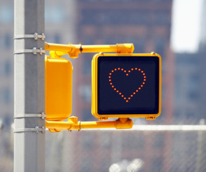love and traffic lights image