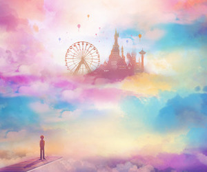 Dream, clouds, and art image