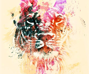 tiger and watercolor image