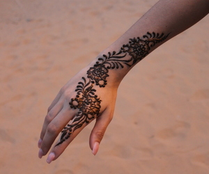 tattoo, arabic, and henna image