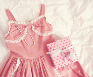 dress, pink, and gift image