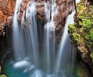 waterfall, blue, and nature image