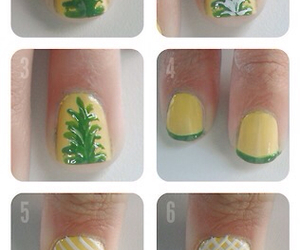 nails, fruit, and pineapple image