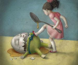 art, egg, and sad image