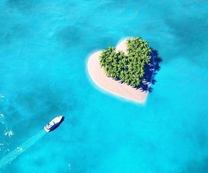 beautiful, heart, and Island image