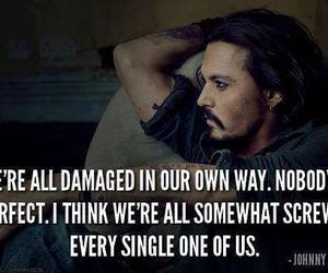 quote, johnny depp, and damaged image