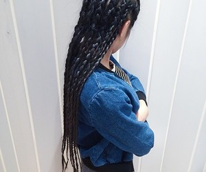 black, hair, and braid image