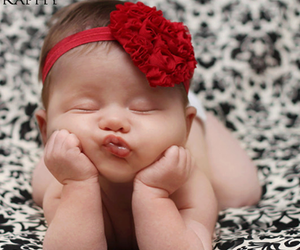baby, red, and sweet image