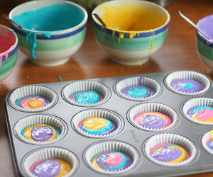 colorful, cupcakes, and pretty image