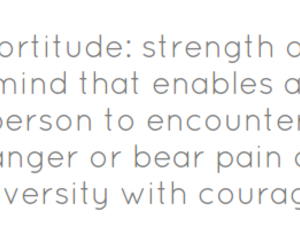fortitude; strength image