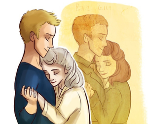 aww, captain america, and couple image