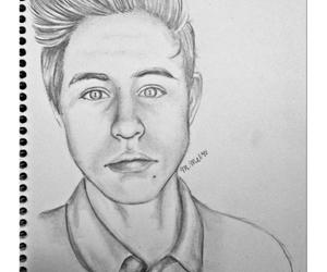 art, boys, and drawing image