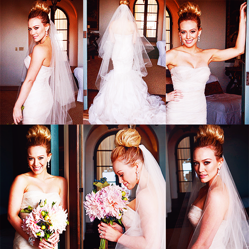 Hilary Duff, wedding, and wedding dress image