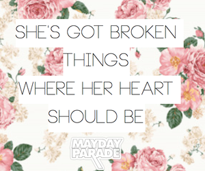 background, bands, and floral image