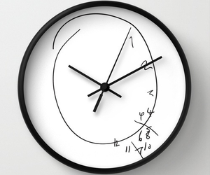 black and white, clock, and confused image