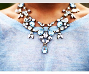 fashion, necklace, and blue image