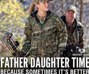 camo, daughter, and father image