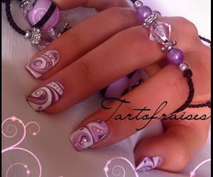 lilac, nail art, and nail polish image