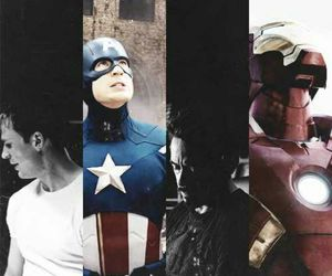 captain america, the avengers, and iron man image
