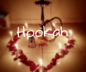 flowers, heart, and hookah image