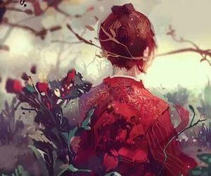 girl, japan, and draw image