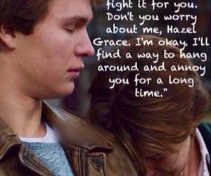 john green, movie trailer, and the fault in our stars image