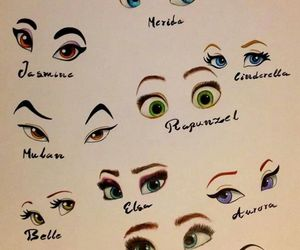 disney, drawn, and eyes image