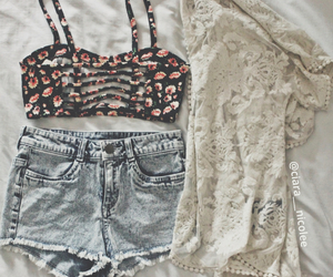 bralette, jean, and layout image