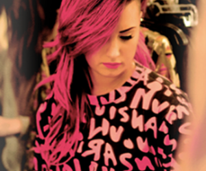 demi lovato, pink, and demi image