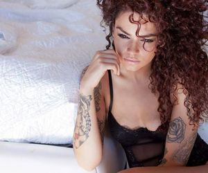 curls, Tattoos, and sexy image