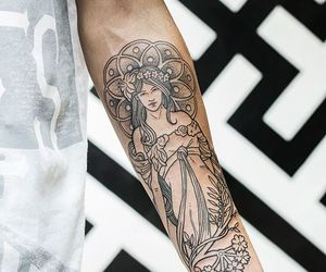 tattoo, boy, and ink image